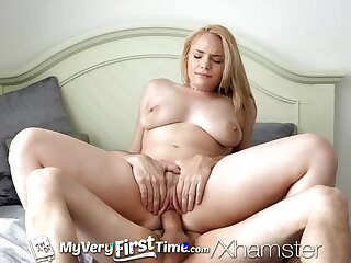 MyVeryFirstTime First time fuck on film for Hadley Viscara