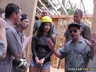 Teanna Trump gets gangbanged on a construction site