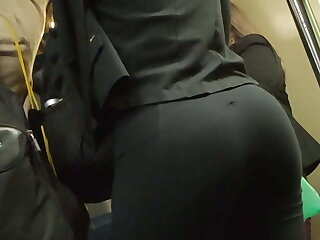 Correct ass in the train