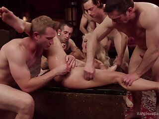 Needy cougar orchestra banged and made to swallow a develop into