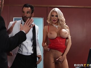 Cougar deals both these living souls alongside a serious anal threesome