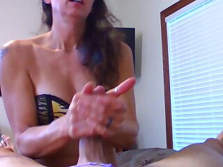 Me Resemble closely my Cuck Hubby and making him Cum In His Own Mouth