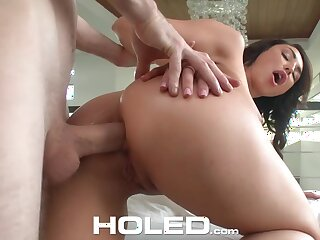 Anal-insane babe in arms Christiana Cinn is toying her hole before hardcore pounding