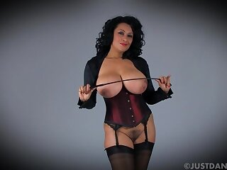 Busty mature Danica Collins loves flashing say no to tits and pussy