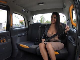 Latina Takes a Tumble and a Beamy Dick
