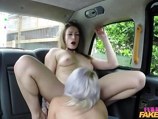 Busty Blonde Licks Her First Pussy