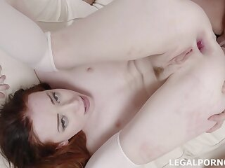 A Young Beauty Wants Two Huge Dicks Of Guys In Make an issue of Anal Hole - Lottie Magne