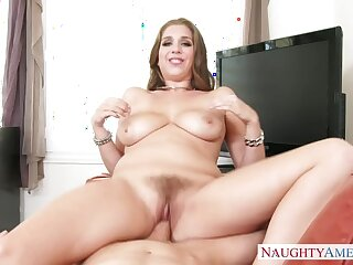 Alex Chance shafting take the couch with say no to natural tits