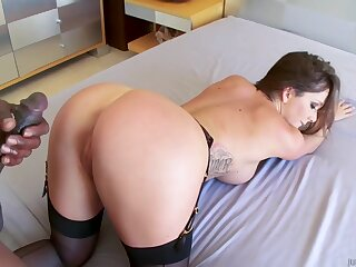 Adorable Destiny Dixon drilled by hard black dick